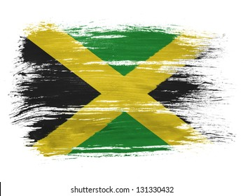 Jamaica flag  on white background