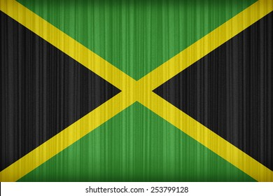 Jamaica flag pattern on the fabric curtain,vintage style