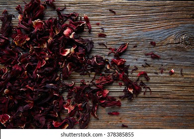 Jamaica flower for herbal iced tea from hibiscus Mexican beverages