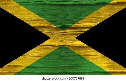 Jamaica grunge flag background