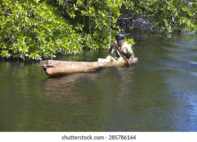 JAMAICA- OCTOBER 29: The local fisherman catches fish in Black river on october 29, 2011 in Jamaica