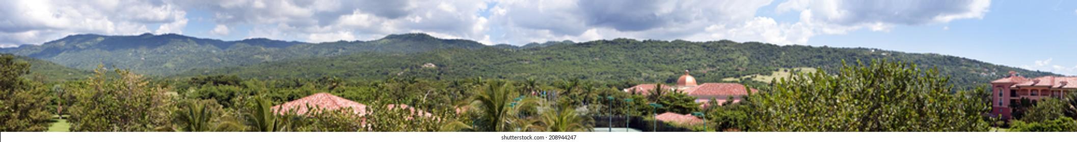 Jamaica. Panorama. View of mountains - Shutterstock ID 208944247