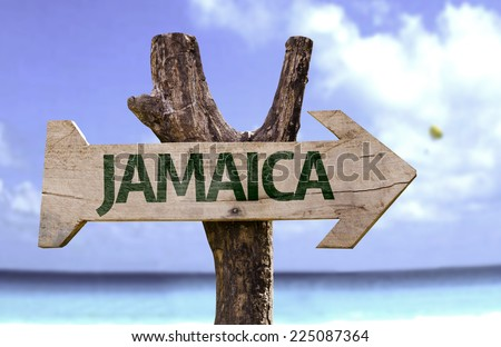 Jamaica wooden sign with