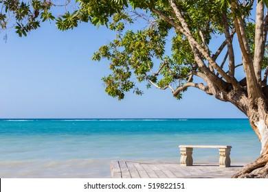 Jamaican Blues / A beach scene from the south coast of Jamaica.