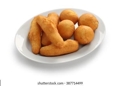 jamaican festival, fried dumpling isolated on white background