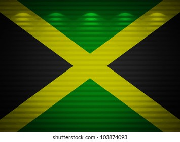 Jamaican flag wall, abstract background