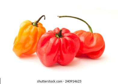 jamaican peppers in white background