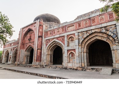 Jamali Kamali Mosque and Tomb, located in the Archaeological Village complex in Mehrauli, Delhi, India