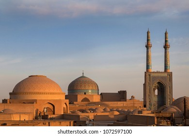 Jameh Mosque in Yazd, at the sunrise, Iran
