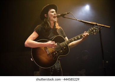 James Bay performs on stage at Eventim Apollo on March 29, 2016 in London, England.