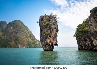 James Bond Island (Khao Tapu) and Khao Phing Kan Island, Phang Nga Bay, Thailand