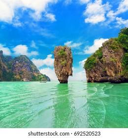 James Bond Island (Ko Tapu), Thailand, Phang Nga Bay, Phuket - limestone tower karsts, part of Ao Phang Nga National Park