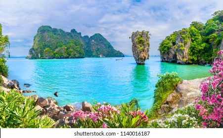 James Bond Island on Phang Nga bay, Thailand