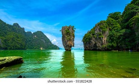 James Bond Island in Phang Nga Bay,Southern Thailand
