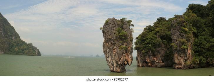 James Bond island. Phuket. Thailand. (panorama)