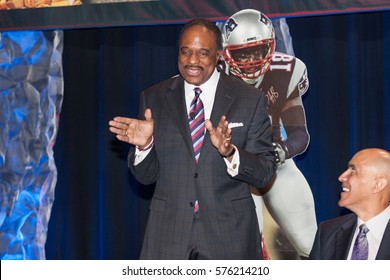 James Brown attends the Bart Starr Awards, 2017 AIA Super Bowl Breakfast on Saturday 4, 2017 at the Marriott Marquis Houston, Texas - USA