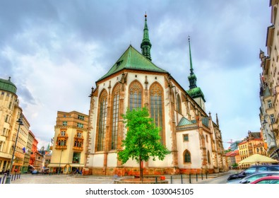 James church in the old town of Brno - Moravia, Czech Republic