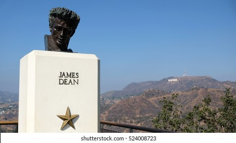 James Dean looks over Hollywood