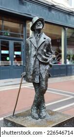 James Joyce statue in Dunlin, Ireland