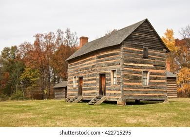 James K Polk Birthplace in Pineville, North Carolina November 14, 2006 in Pineville, NC