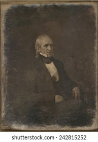 James Knox Polk, (1795-1849), 11th President of the United States. Daguerreotype portrait by Mathew Brady.