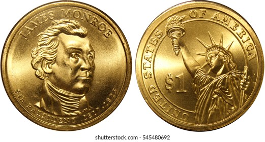 James Monroe President Dollar Coin Picture