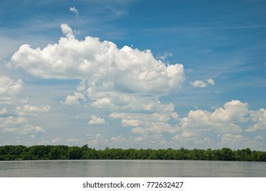 James River View of a Tree Line and Sky