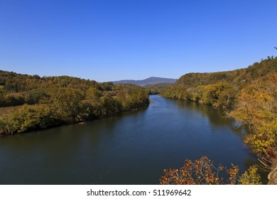 James River in Virginia in the Fall