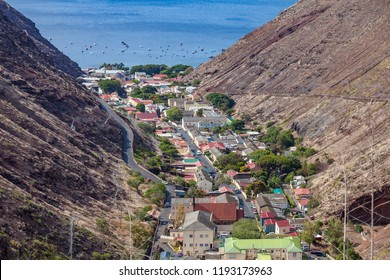 Jamestown, the capital of Saint Helena Island is situatated in a very steep valley on the western side of the Island