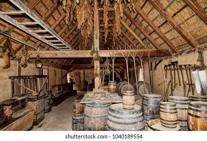 Jamestown Virginia Storehouse Tobacco and Whiskey Barrells