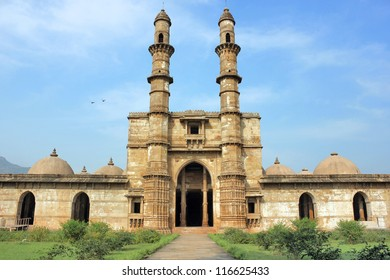 Jami Masjid at Champaner Pavagadh. A UNESCO World Heritage Site built in 16th century A.D. by Sultan Mahmud Begada. Magnificent view of the mosque building.