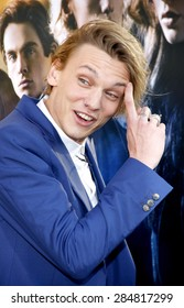 """Jamie Campbell Bower at the Los Angeles premiere of """"The Mortal Instruments: City Of Bones"""" held at the Cinerama Dome in Hollywood on August 12, 2013 in Los Angeles, California."""