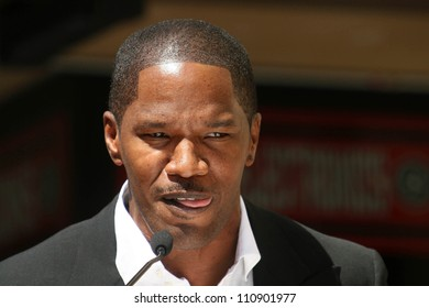 Jamie Foxx at the ceremony honoring him with the 2,347th star on the Hollywood Walk of Fame. Hollywood Boulevard, Hollywood CA. 09-14-07