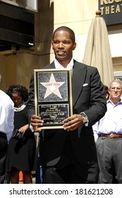Jamie Foxx at the induction ceremony for STAR ON THE HOLLYWOOD WALK OF FAME for Jamie Foxx, The Kodak Theatre, Los Angeles, CA, September 14, 2007