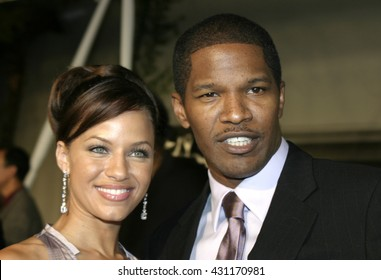 Jamie Foxx and Leila Arcieri at the Los Angeles premiere of 'Ray' held at the Cinerama Dome in Hollywood, USA on October 19, 2004.