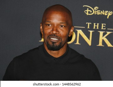 Jamie Foxx at the World premiere of 'The Lion King' held at the Dolby Theatre in Hollywood, USA on July 9, 2019.