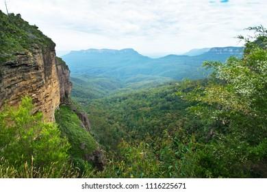 Jamison Valley in Blue Mountains in Australia