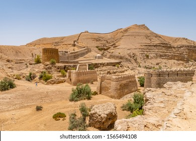 Jamshoro Rani Kot Fort Great Wall of Sindh Picturesque Breathtaking Panoramic View on a Sunny Blue Sky Day