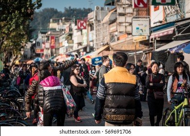Jan 01, 2017 Cheung Chau Island : Crowded people traveling, eating, shopping in famous traditional tourist spot in Hong Kong,