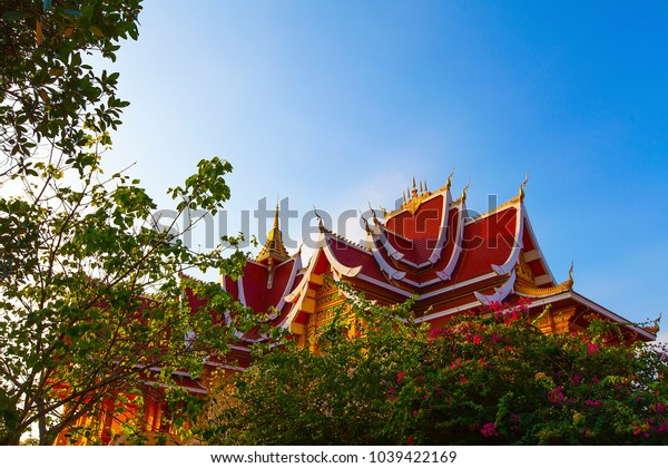 JAN 09 2018. The Haw Pha Bang or Royal palace of Luang Prabang in Luang Prabang National Museum, Luang Prabang, Laos