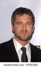 Jan 10, 2005; Los Angeles, CA:  Phanthom of the Opera star GERARD BUTLER at the 10th Annual Critcs' Choice Awards at the Wiltern Theatre, Los Angeles.