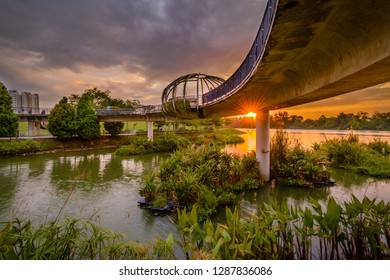 Jan 13/2019 Sunset at Punggol Park connector, Singapore