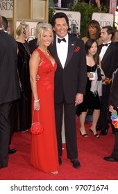 Jan 16, 2005; Beverly Hills, CA: Singer WAYNE NEWTON & wife at the 62nd Annual Golden Globe Awards at the Beverly Hilton Hotel.