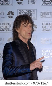 Jan 16, 2005; Los Angeles, CA: MICK JAGGER at the 62nd Annual Golden Globe Awards at the beverly Hilton Hotel.