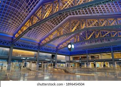 Jan 16, 2021 Newly open Moynihan Train Hall, Expands New York's Penn Station, Midtown Manhattan, New York City, USA.