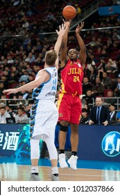 Jan 23, 2017 - Beijing, China: Former NBA player Carl Landry during a CBA game between Beijing Ducks and Jilin Northeast Tigers, on January 23, 2017, in Beijing, China.