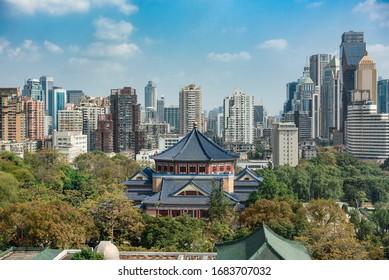 Jan 23,2020-Guangzhou,China-The Sun Yat-Sen Memorial Hall in Guangzhou ,China