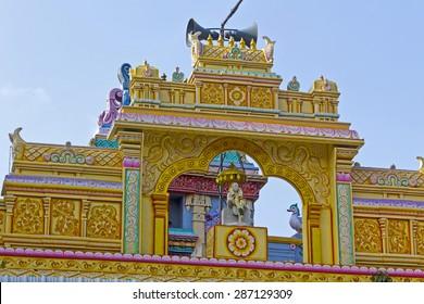 JAN 30, 2015, CHENNAI, TAMIL NADU, INDIA - Detail of Shirdi Sai temple. Shirdi Sai Baba (circa 1840-1918) was the great saint worshiped as the form of the God Shiva