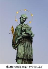Jan Nepomutsuki statue of Charles Bridge