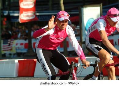 Jan Ullrich on the Champs Elysees - Paris - 2004 Tour de France